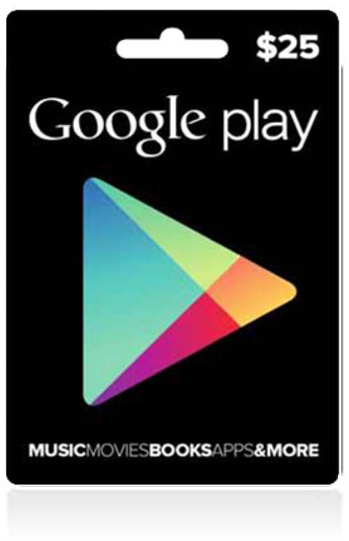 $25 Google Play Store Card