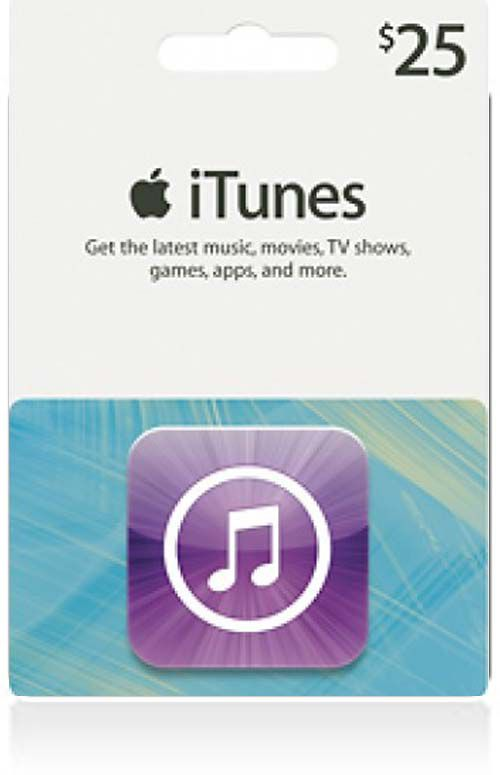 $25 iTunes Gift Card (US)