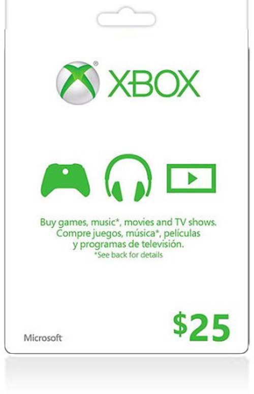 $25 Xbox Live Gift Card (US)