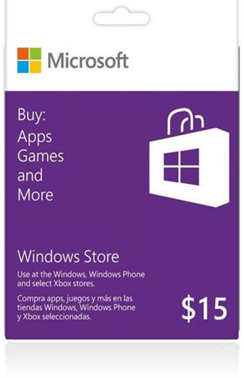 $15 Windows Store Gift Card (US)