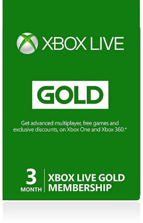 Xbox Live Gold 3-months Membership (US)
