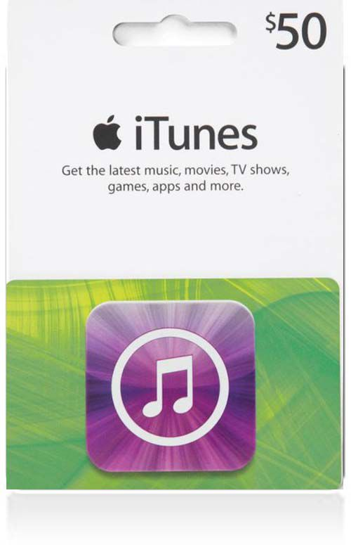 $50 iTunes Gift Card (Canada)