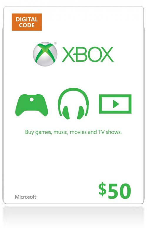 $50 Xbox Live Gift Card (US)