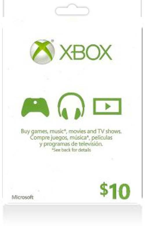 $10 Xbox Live Gift Card (US)